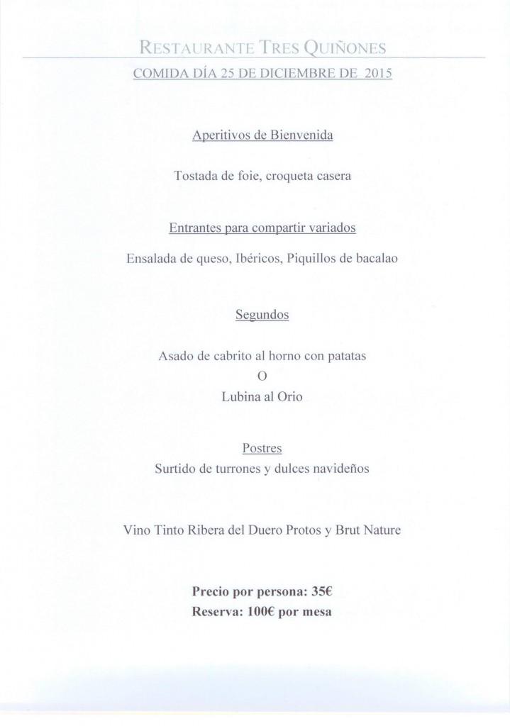 Comida Navidad 2015 en Restaurante Tres Quiñones, Formigal